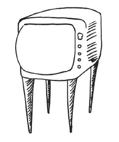 Телевизор на тонких ножках